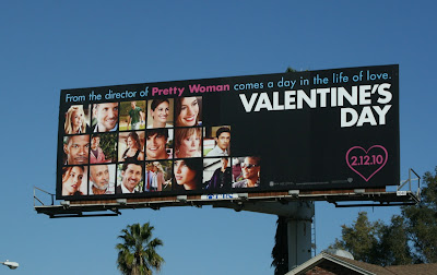 Valentine's Day movie billboard