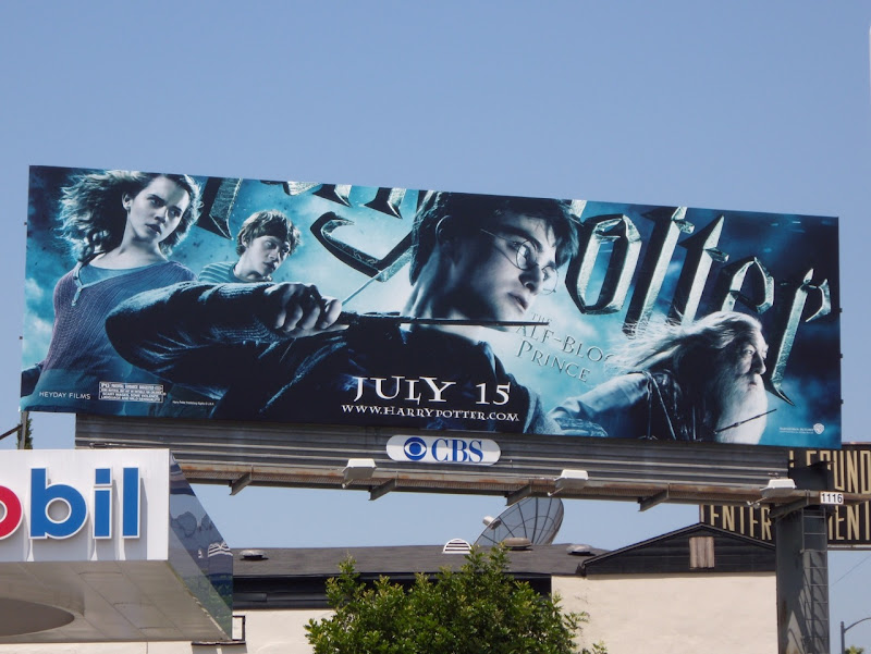 Daily Billboard HERO WEEK Harry Potter And The Half Blood Prince Movie Billboards