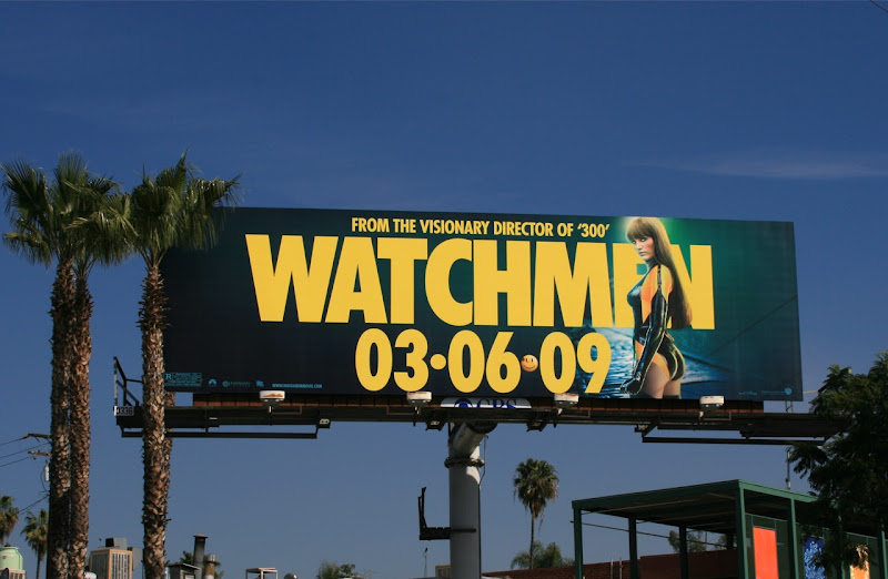 Silk Spectre II Watchmen movie billboard