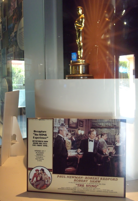 The Sting movie Oscar display