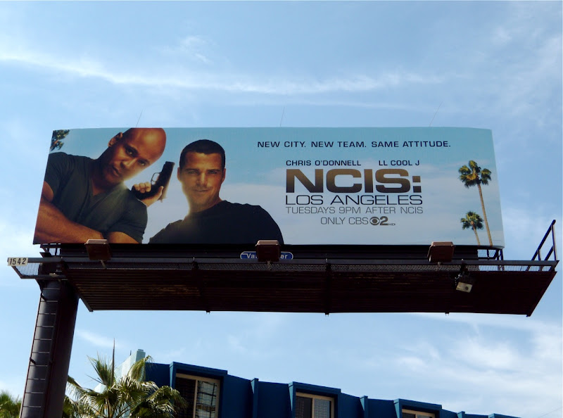 NCIS Los Angeles season 1 TV billboard