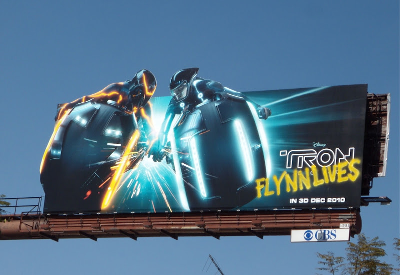 Tron legacy Flynn Lives movie billboard