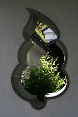 Chinese Garden leaf window