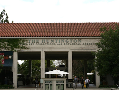 Huntington Botanical Gardens entrance