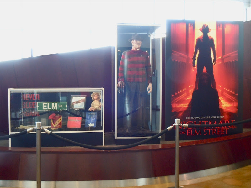 A Nightmare on Elm Street movie exhibit