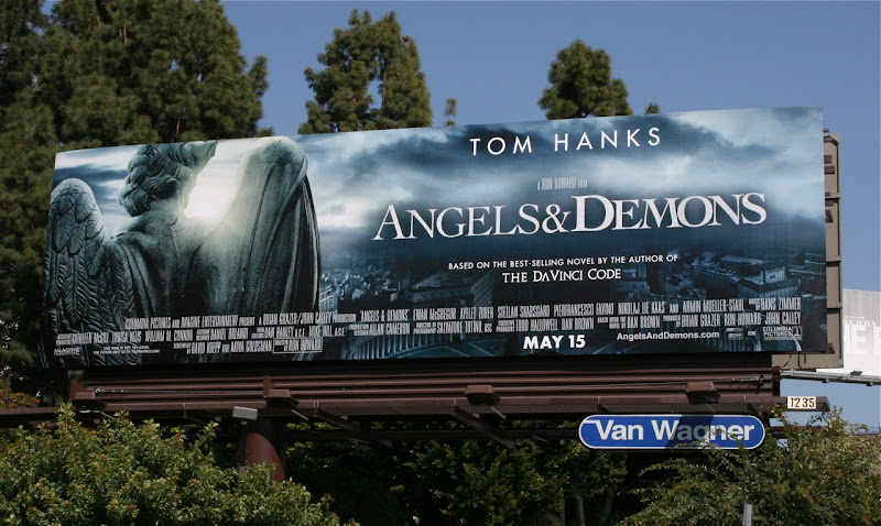 Angels and Demons teaser movie billboard