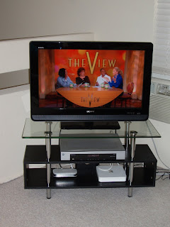 Our new 32 Sony Bravia HDTV and bargain Target TV stand