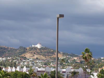 View of the Griffith Observatory from the roof of The Home Depot, 5600 Sunset Blvd