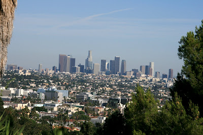 Fantastic view of Downtown L.A. from the Hollywood Hills