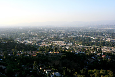 View of the San Fernando Valley from Mulholland scenic overlook
