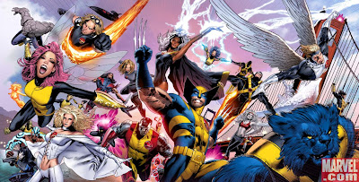 Alternate 500th issue cover for The Uncanny X-Men by Greg Land