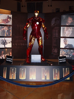 Iron Man suit worn by Robert Downey Jr in the movie