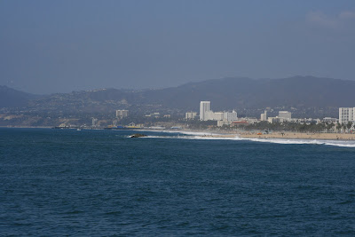 Santa Monica Pier viewed from Venice Beach Pier