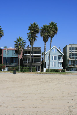 The beach front houses of Venice Beach