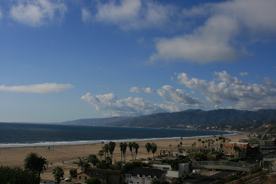 View of Malibu from Santa Monica's Palisades Park