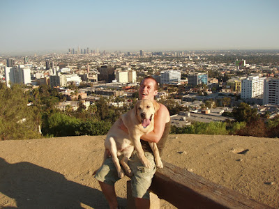 Jason and Cooper at Runyon Canyon