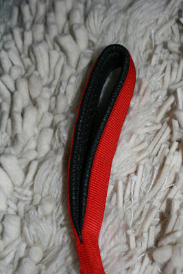 Padded leash handle