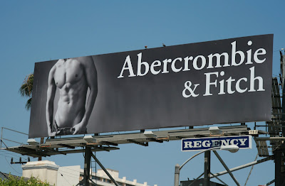 Abercrombie and Fitch hot male torso billboard