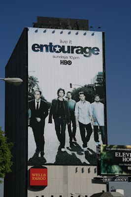 Large billboard for Entourage Season 5 cast