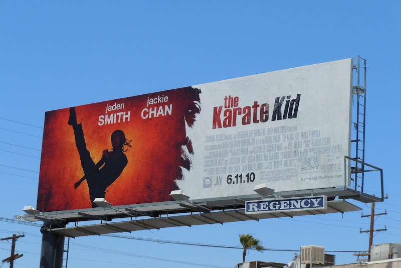 The Karate Kid remake movie billboard