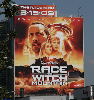 Disney's Race to Witch Mountain billboard
