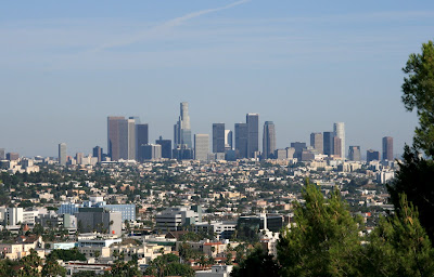 View of Downtown LA from Hollywood HIlls