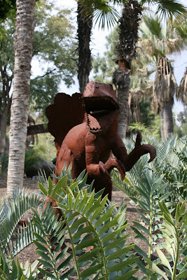 Dinosaur sculpture at LA Zoo