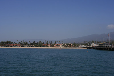Santa Barbara beach at Stearns Wharf
