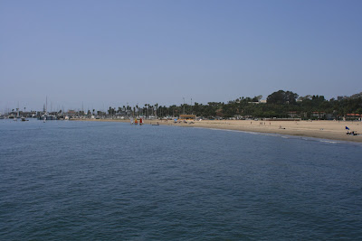 Santa Barbara harbour and beach