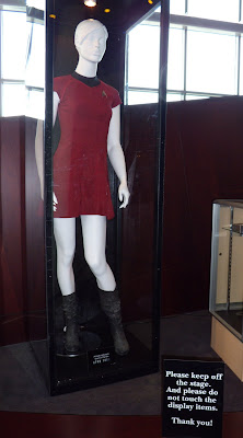 Star Trek red female Starfleet uniform movie costume
