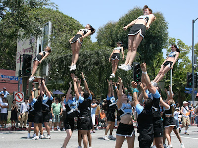 West Hollywood Gay Pride Parade cheerleaders 2008