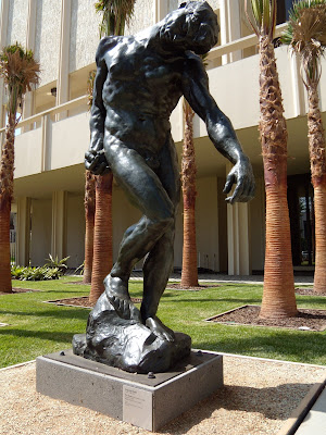 The Shade by Auguste Rodin bronze at LACMA sculpture garden