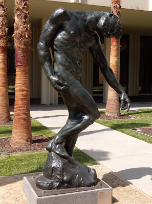 The Shade by Auguste Rodin bronze sculpture at LACMA