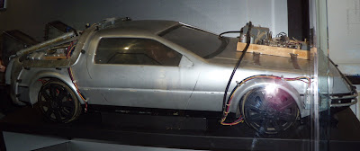 DeLorean car model movie prop from Back to the Future