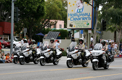 Police support at West Hollywood Gay Pride Parade 2009