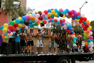 Pride dancers at West Hollywood Gay Parade 2009