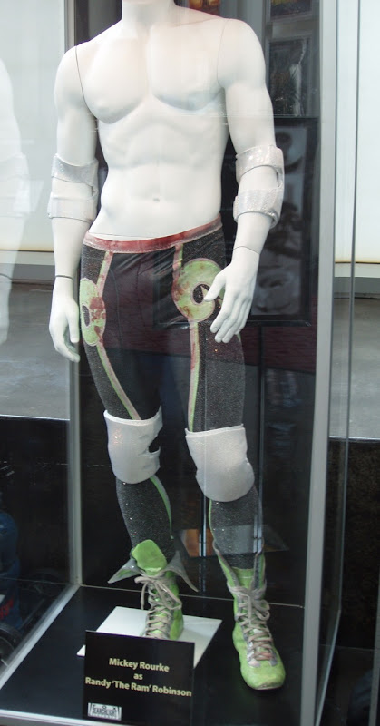 The Wrestler film costume on display
