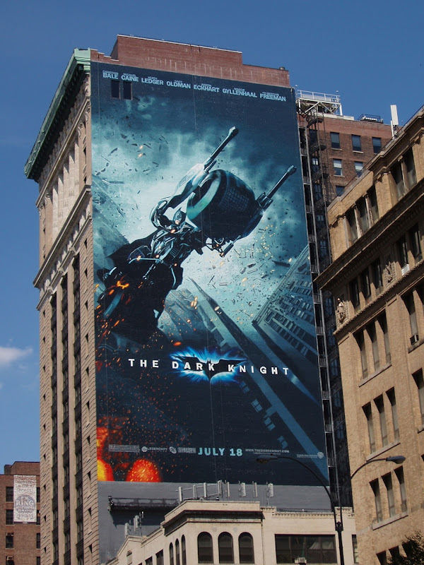 The Dark Knight movie billboard in New York