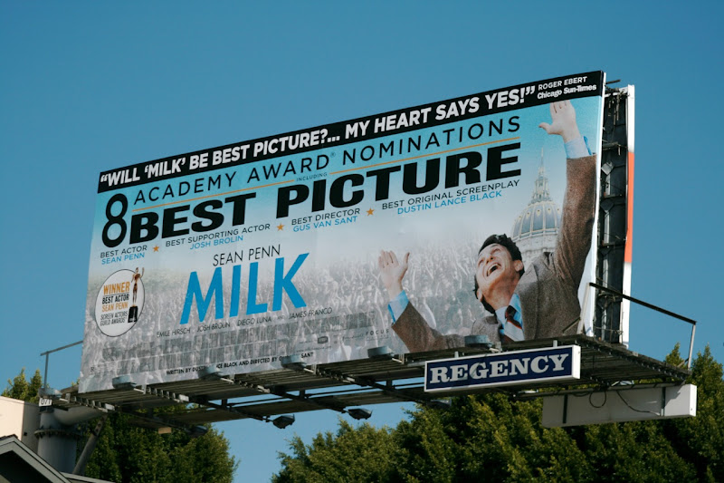 Milk Best Picture film billboard