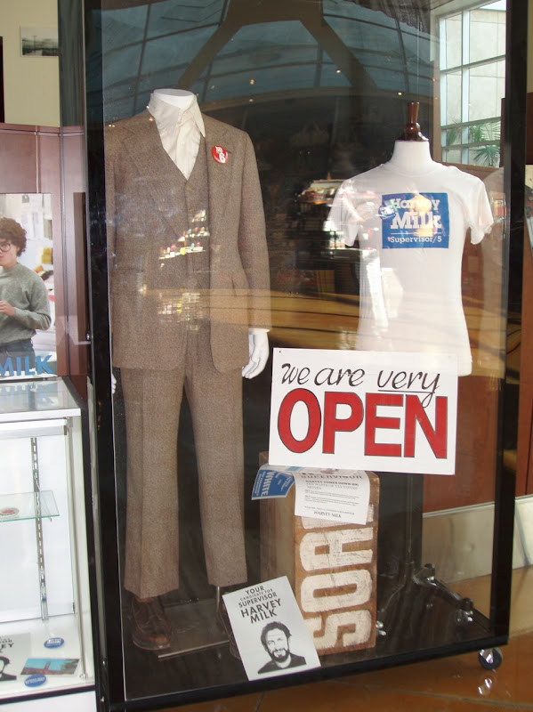 Sean Penn Harvey Milk suit and film props