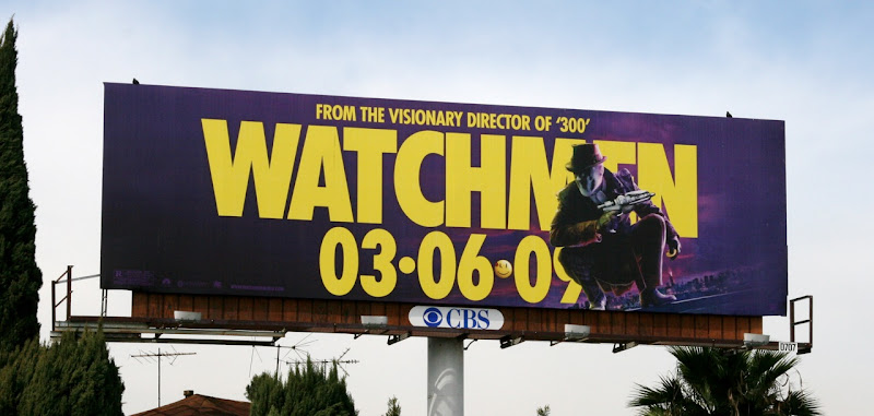 Watchmen Rorschach movie billboard