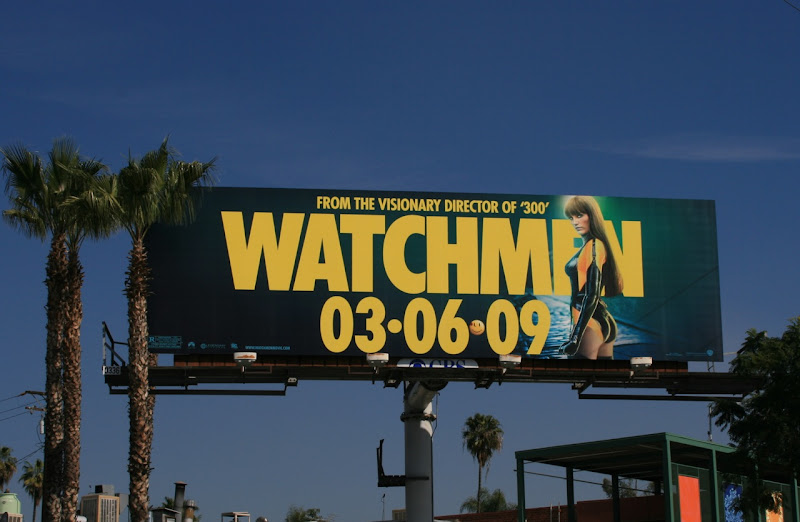 Watchmen Silk Spectre II movie billboard