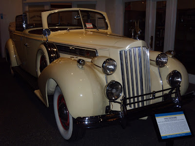 1939 Packard car at Petersen Museum