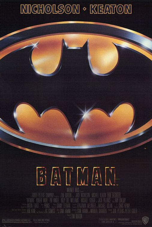 Tim Burton's Batman movie poster