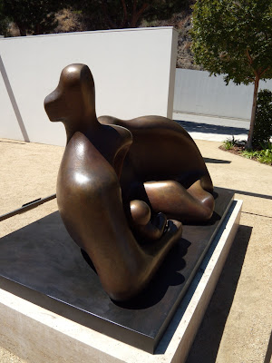 Draped Reclining Mother and Baby sculpture