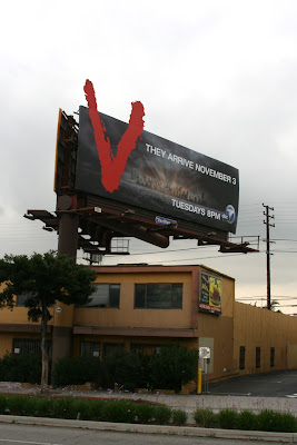 V TV sci-fi show billboard