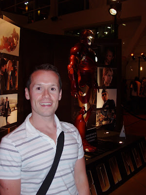 Jason in Hollywood with Iron Man