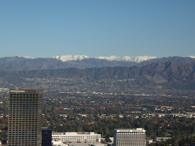 Snow capped Verdugo Hills