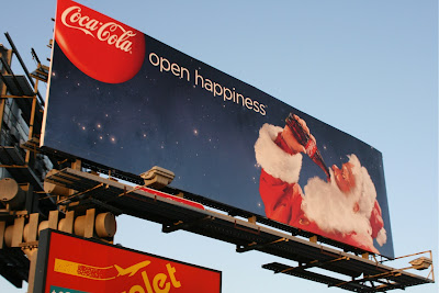 Coca Cola Open Happiness billboard 2009