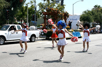 West Hollywood Pride Parade cheerleaders 2010